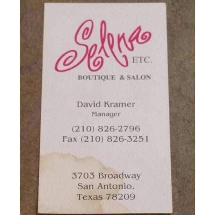 Selena boutique business card