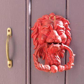 Lionhead knocker on the door of Gerard's church. Omeo, Easter 2014.