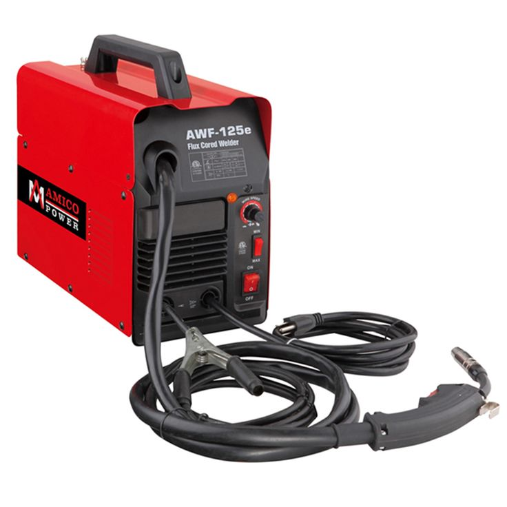 The AMICO Power AWF-125e Welding is the perfect choice to do projects and repairs around the home, farm and shop. This MIG welder will produce a cleaner bead with less splatter than a regular flux cor