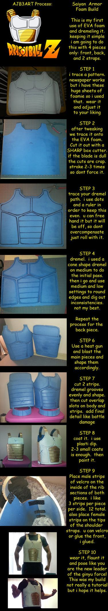 this is a step by step process of what i did, so im throwing it in tutorials. Materials 3 sheets of gym floor mat squares (EVA Foam) heat gun dremel with multiple bits crazy glue or hot...