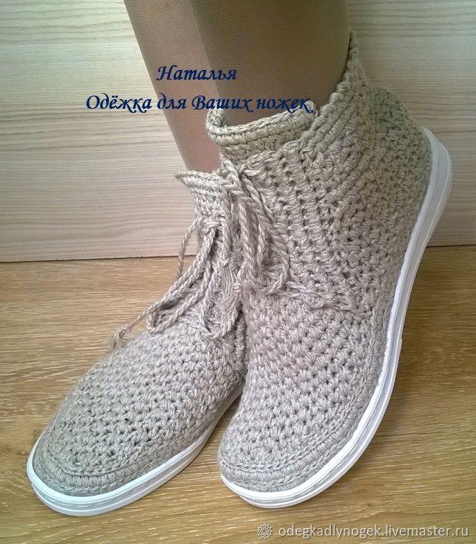 1e62e87cf573 Купить Льняные ботиночки в интернет магазине на Ярмарке Мастеров -  #zapatosdemujer #zapatosmujer #zapatos
