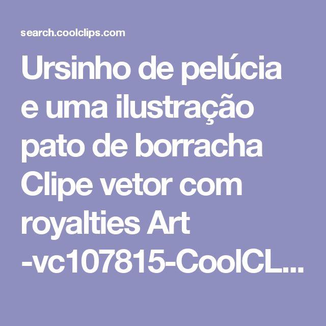 Ursinho de pelúcia e uma ilustração pato de borracha Clipe vetor com royalties Art -vc107815-CoolCLIPS.com