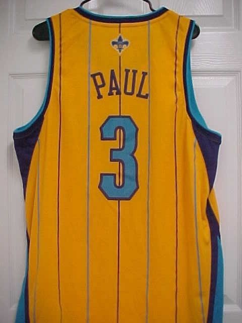 best service 9e69a db66e CHRIS PAUL 3 NOLA New Orleans Hornets Stitched NBA ...