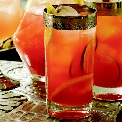Campari Açaí Brunch Punch: Get your morning off to the right start with this tangerine juice-laced drink from Ted Allen