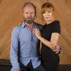 Sting and Mylene Farmer Portrait Session