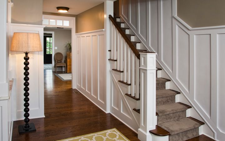 Wood wainscot paneling and other traditional details for 1930s home design ideas