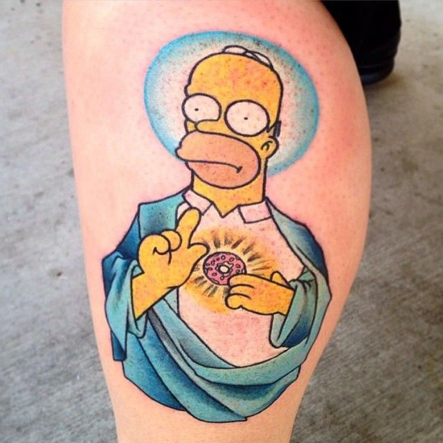 Simson Tattoo: 17 Beste Ideeën Over Simpsons Tattoo Op Pinterest