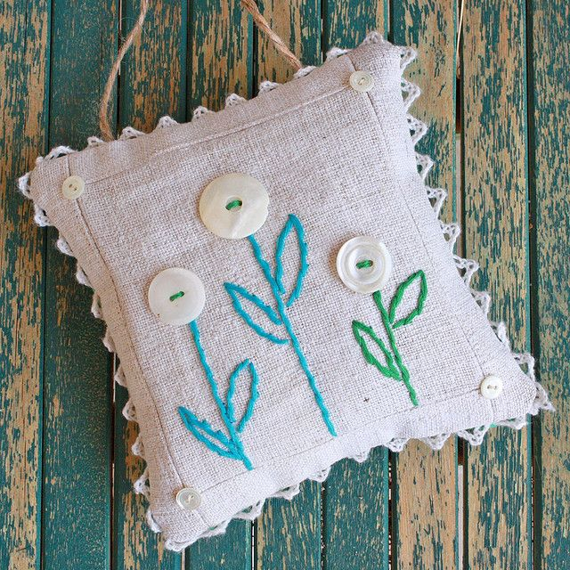 linen sachet by bailiwickdesigns, via Flickr