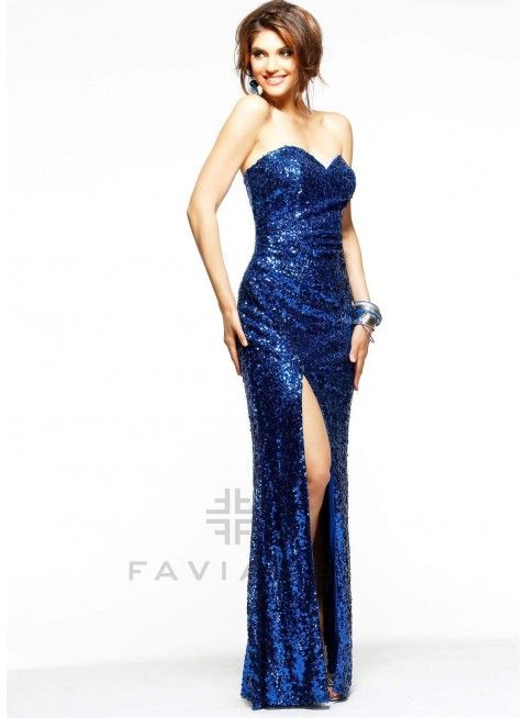 Prom dresses royal blue long