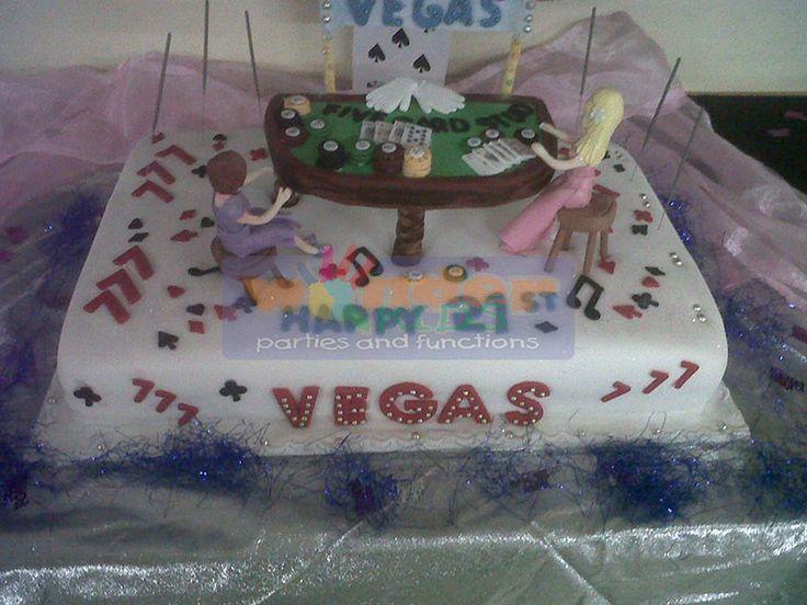Custom Vegas themed cake  http://www.wonder-parties.co.za/