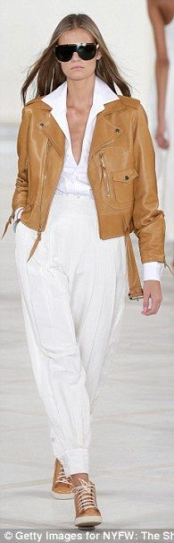 Ralph Lauren ~#NYFW~The designer, 75, crafted pants and jackets out of buttery leather for his spring/summer 2016 collection