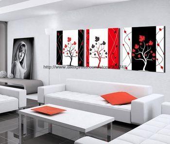 Venta caliente 3 unidades para los regalos nuevo arte moderno de la lona negro blanco rojo para amigo paisaje cocina para sala de estar restaurante Ba