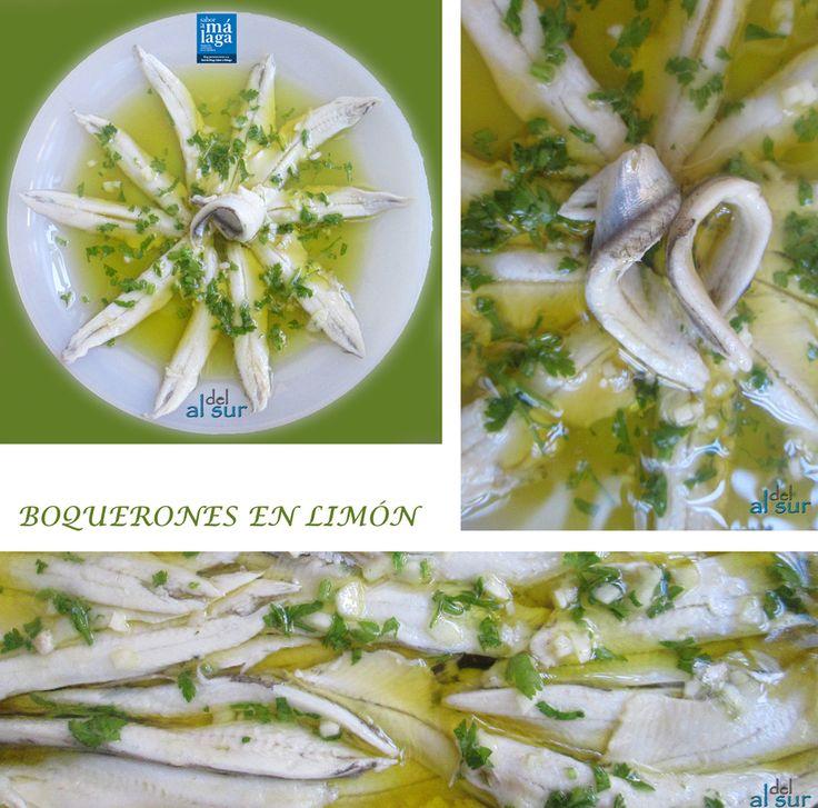 La cocina malagueña-Alsurdelsur: Boquerones en limón