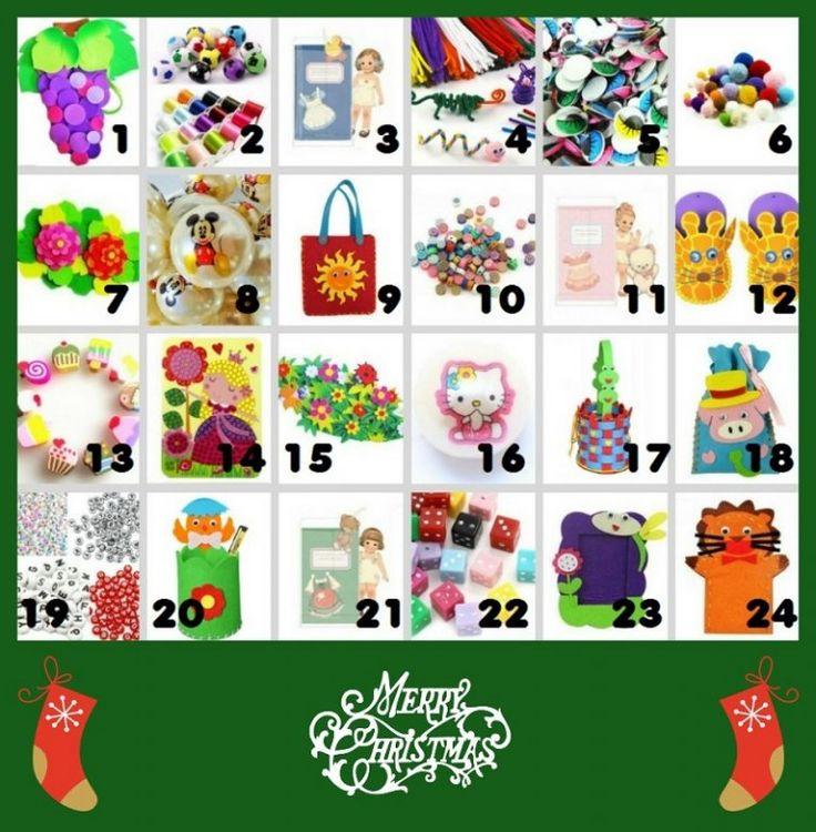 Julkalender med pyssel