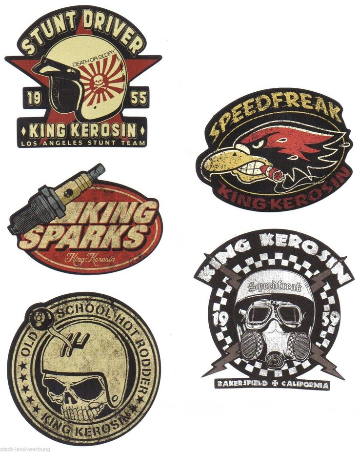 562 king kerosin set speedfreak aufkleber sticker rockabilly hot rod bobber oem