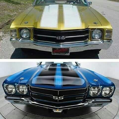 '70 Chevelle SS (bottom) '71 Chevelle SS (top)