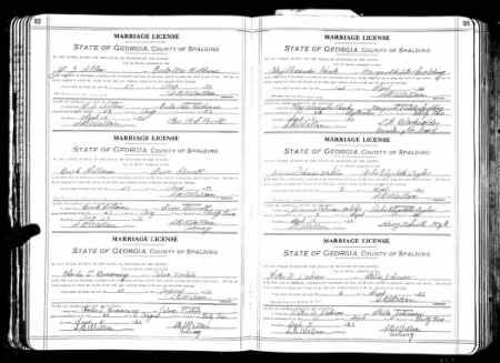 Buck Williams discovered in Georgia, Marriage Records From Select Counties, 1828-1978