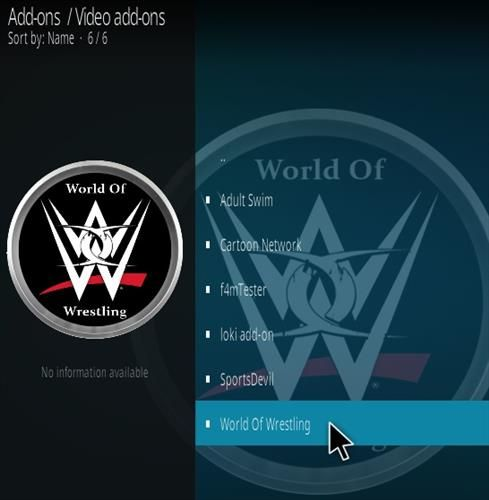 How To Install World of Wrestling Kodi Addon Step 17 | Kodi