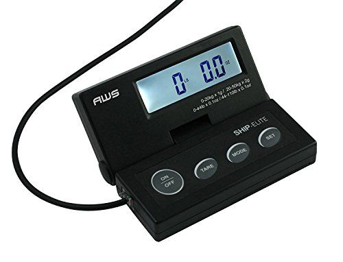 American Weigh Scales SE-50 Ship Elite Black Low Profile Shipping Scale with Backlit LCD and 110-Pound Capacity (2-Pack)
