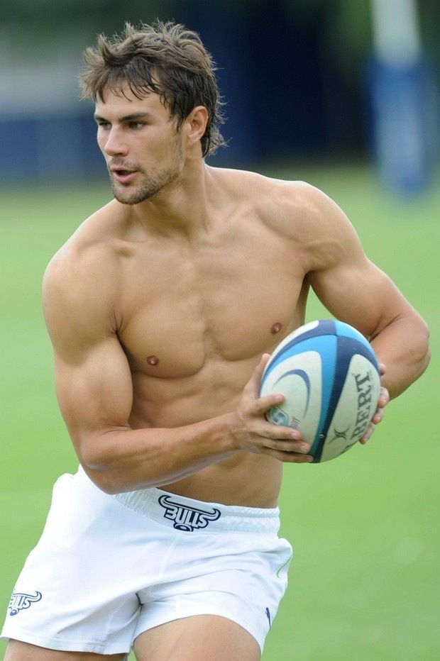 Rugby...oh my goodness rugby guys are so gorgeous- and a Bulls player. what more do you need
