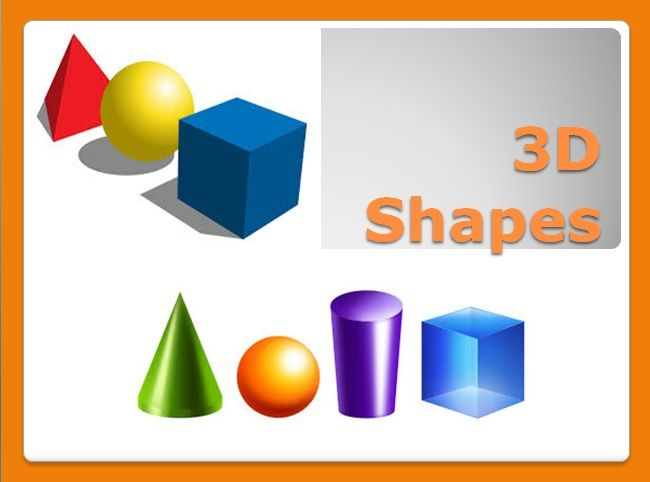 This is an awesome PowerPoint on 3D Shapes. It's a great introductory task. It goes through naming the basic 3D Shapes and then shows some examples of 3D Shapes in the real world. https://www.teacherspayteachers.com/Product/3D-Shapes-PowerPoint-2218467