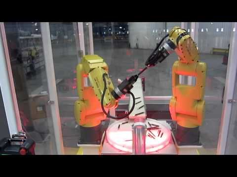 Fanuc Robot Assembly Demo at Tesla