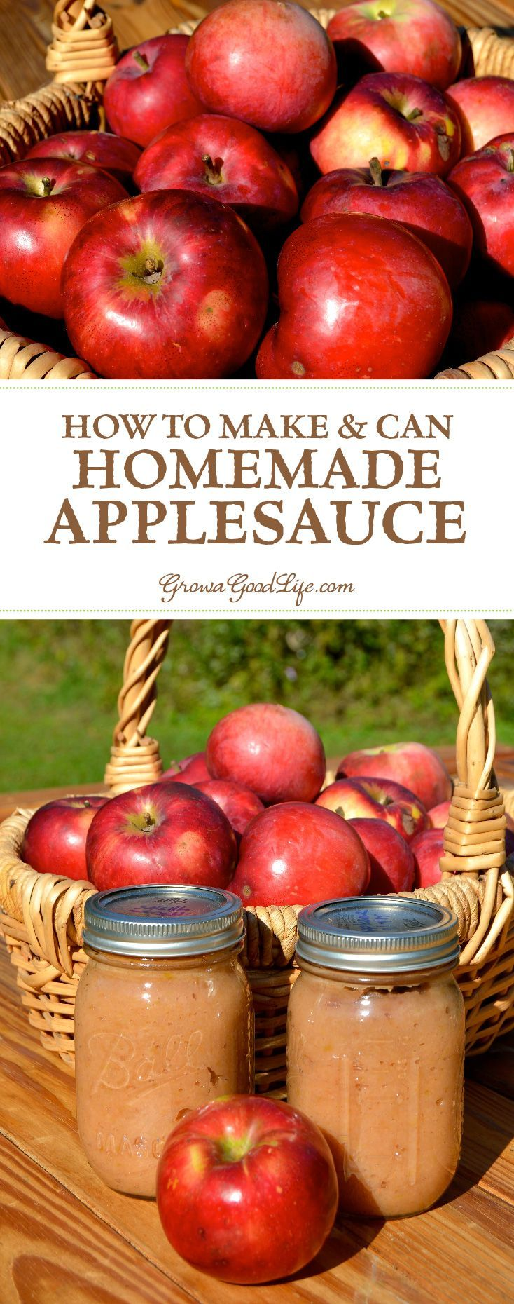 A great way to preserve apples when they are in season is to make your own homemade applesauce and can it in a water bath canner.