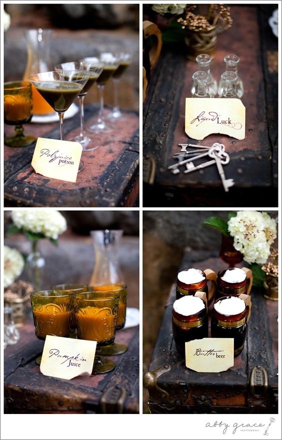 Harry Potter Wedding Drinks jackaby