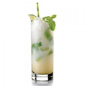 Coconut Mojito - mint leaves, lime, brown sugar, white rum, coconut rum, cream of coconut, club soda