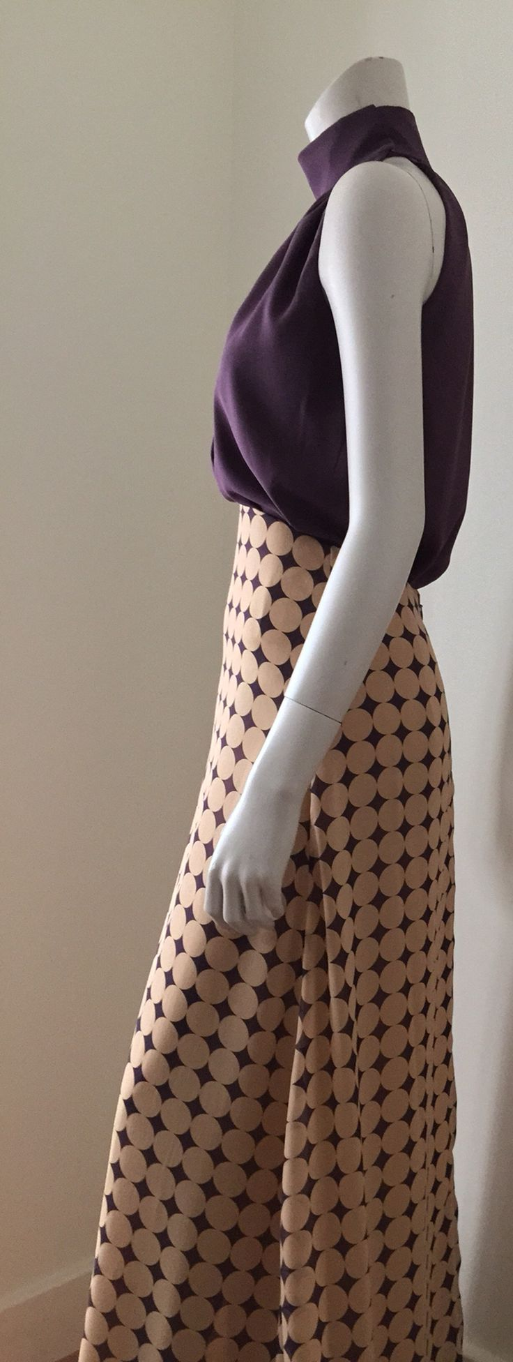 Beautiful long silk chiffon skirt and silk halter top.