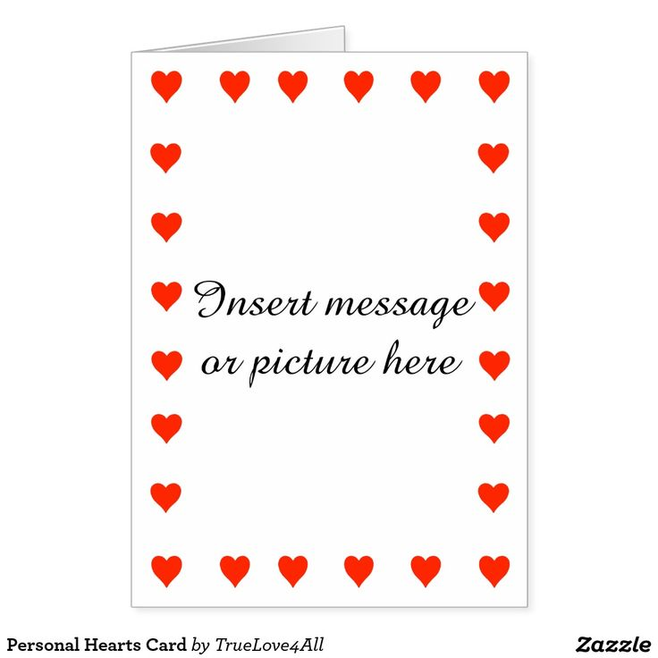 Personal Hearts Card