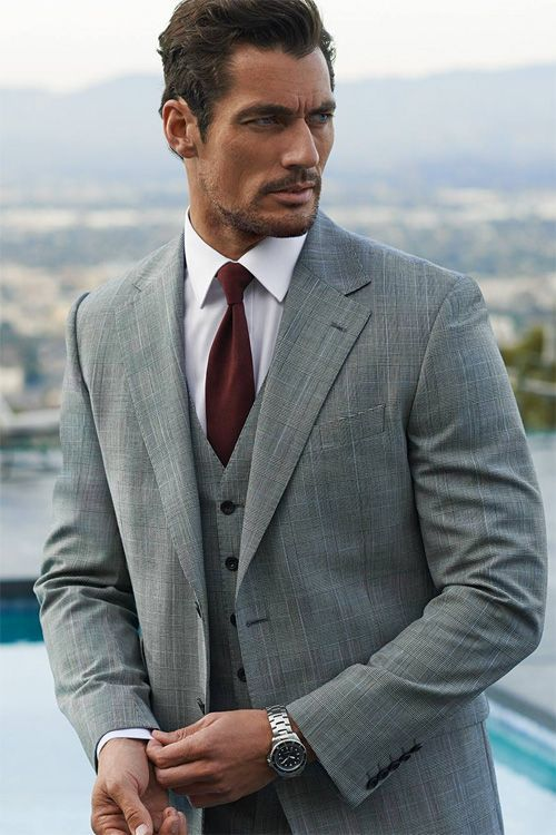 Pink & Gandy-Leading British model David Gandy reunites with Marks &  Spencer for a spring wardrobe update. Dressed in the retailer's relaxed  suiting and sp