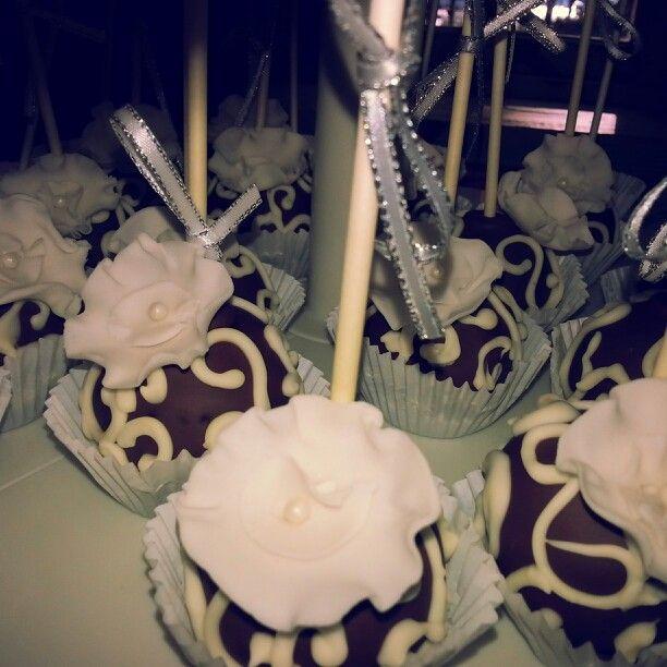 Oreo cake pops I made for a Christmas dessert buffet