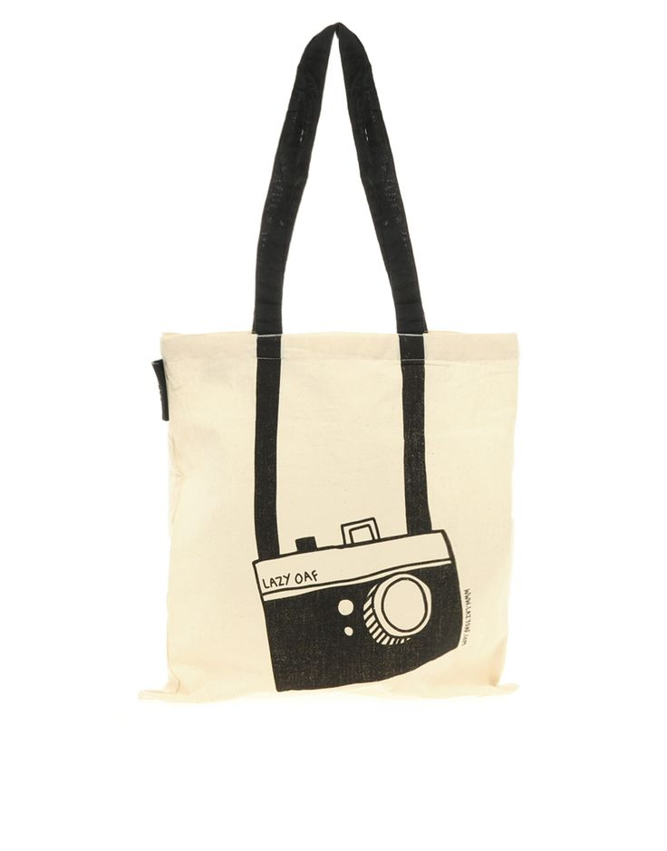 Lazy Oaf Camera Shopper tote bag