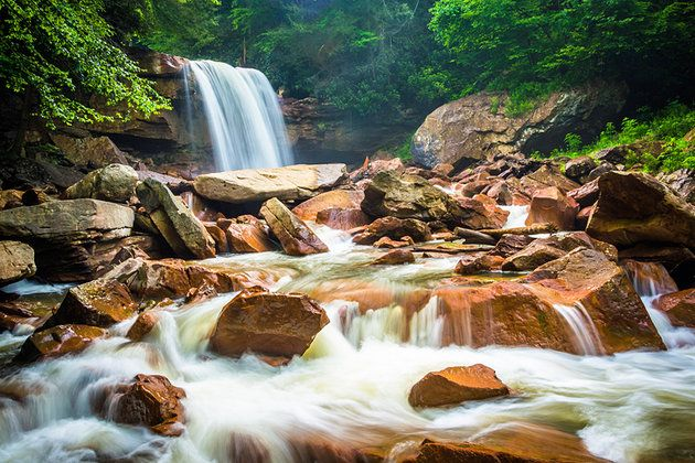 Douglas Falls in Monongahela National Forest