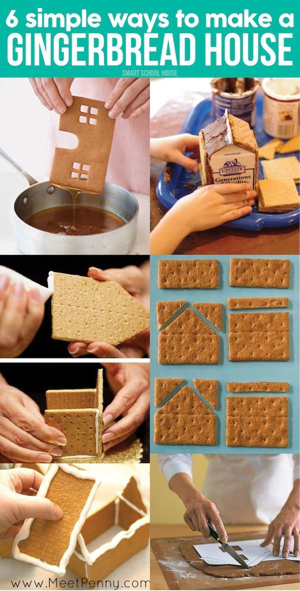 6 Easy Ways to Make a Gingerbread House - Looking for an easy recipe idea? Here you go!