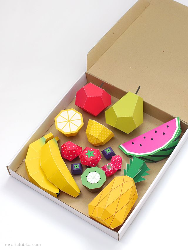 free play fruit templates...mr printables...