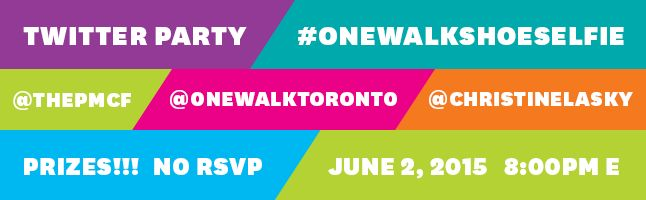 OneWalk. One Day. All Cancers. Join the #OneWalkShoeSelfie Twitter Party June 2, 2015 at 8pm E.