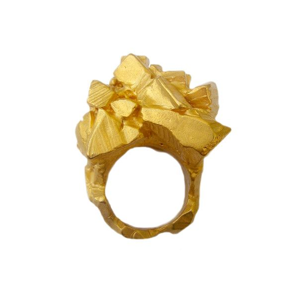 CUBES OF GOLD RING