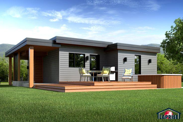Laprise kit homes designer zen contemporary lap0506 maison laprise prefabricated homes for Maison laprise