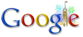 Google.ca doodle for Canada Day 2007.