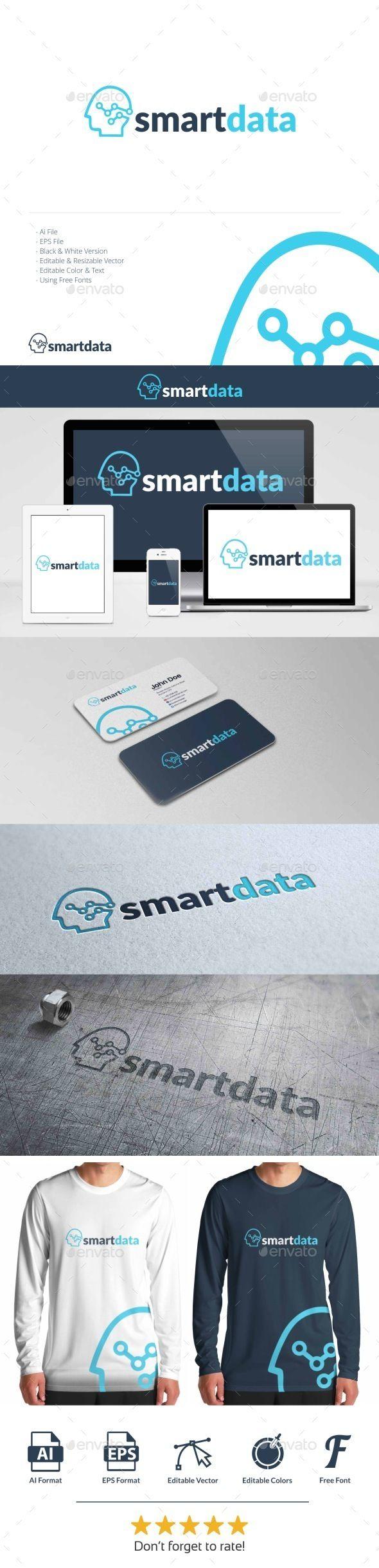 Smart Data - Logo Design Template Vector #logotype Download it here: http://graphicriver.net/item/smart-data-logo/10853534?s_rank=388?ref=nexion