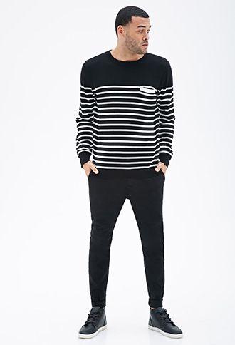 Nautical Striped Pocket Sweater | 21 MEN - 2000099531