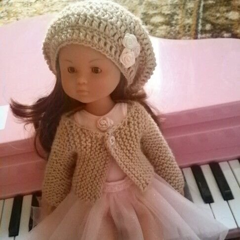 Hat and dress handmade by me for Chloe Cherie Corolle doll