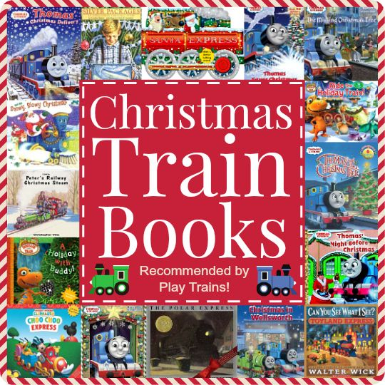 Christmas Train Books for Kids: a big list of holiday books for children who love trains, including suggestions for festive train activities to accompany the books!