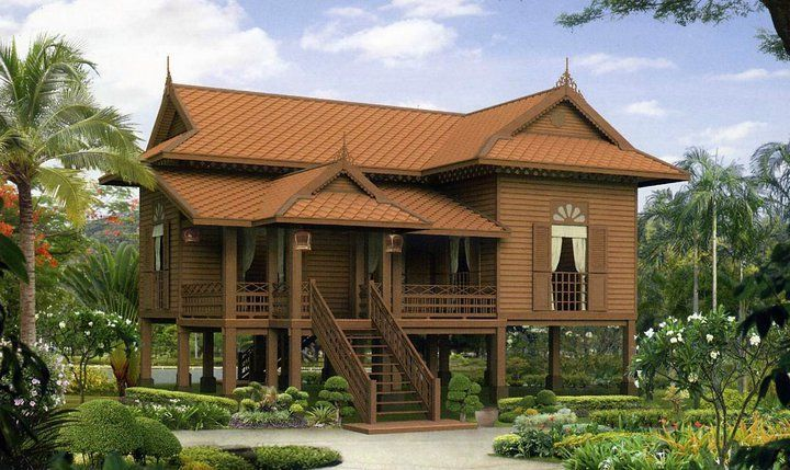 Khmer house asian architecture pinterest house thai for Asian houses photos