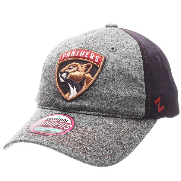 540fa99903697 Women s Florida Panthers Zephyr Charcoal Navy Harmony Adjustable Hat ...