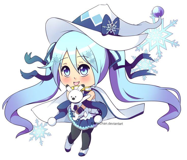 [FanArt] Chibi 2014 Snow Miku by KaPaChan