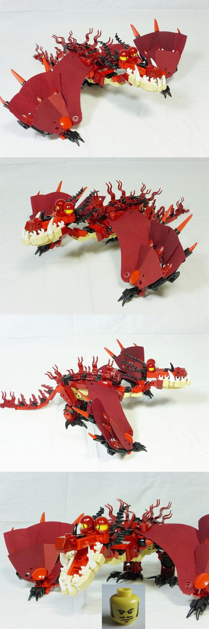 Monstrous Nightmare - check dragon eye (minifigure head) amazing solution!