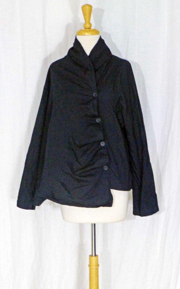 DRESS TO KILL JANE MOHR BLACK COTTON ASYMMETRICAL SEWN TUCKS FAN SHIRT TUNIC 1SZ | Clothing, Shoes & Accessories, Women's Clothing, Tops & Blouses | eBay!